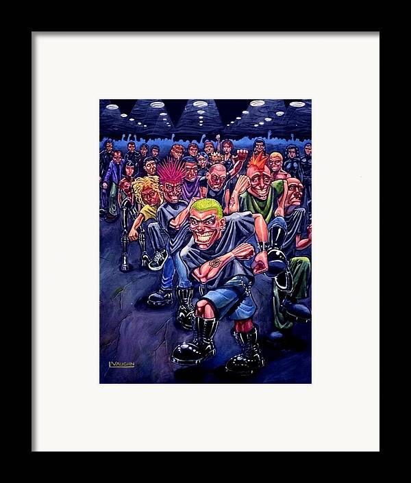 Acrylic Framed Print featuring the painting The Mosh Pit by Lance Vaughn