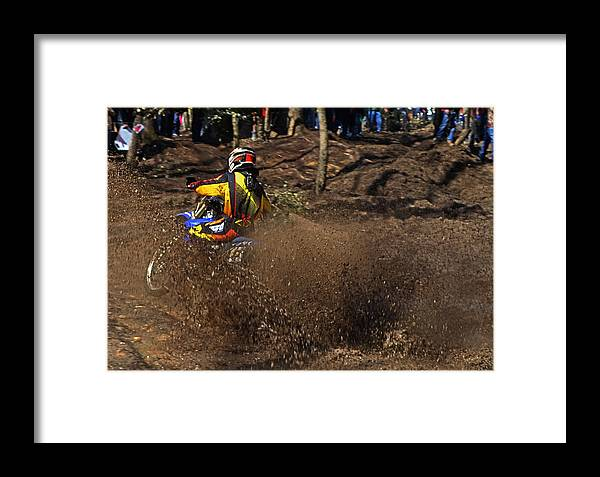 Motocross Framed Print featuring the photograph The Mudslinger 003 by George Bostian