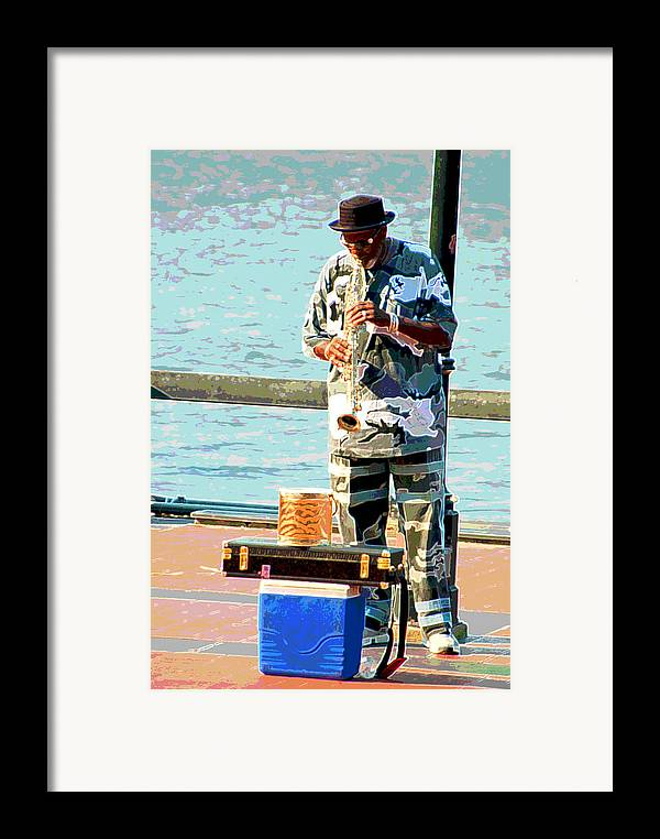 Soprano Saxophone Framed Print featuring the photograph The Music Man by Suzanne Gaff