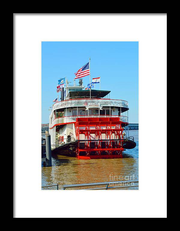 Mississippi River Framed Print featuring the photograph The Natchez 1 by Alys Caviness-Gober
