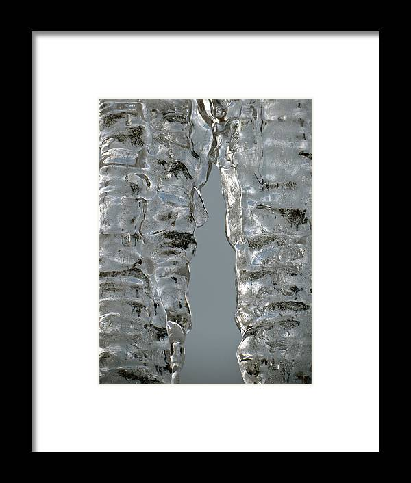 Ice Framed Print featuring the photograph The Nature of Ice by Azthet Photography