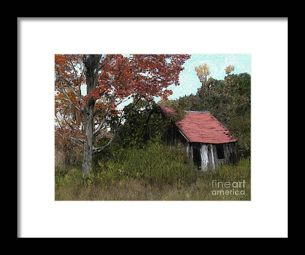 Painting Portrait Painting Digital Oils Landscapes Country Scenes Wisconsin Paintings Canvas Prints Framed Print featuring the digital art The Nature Of Time by Michael Malicoat