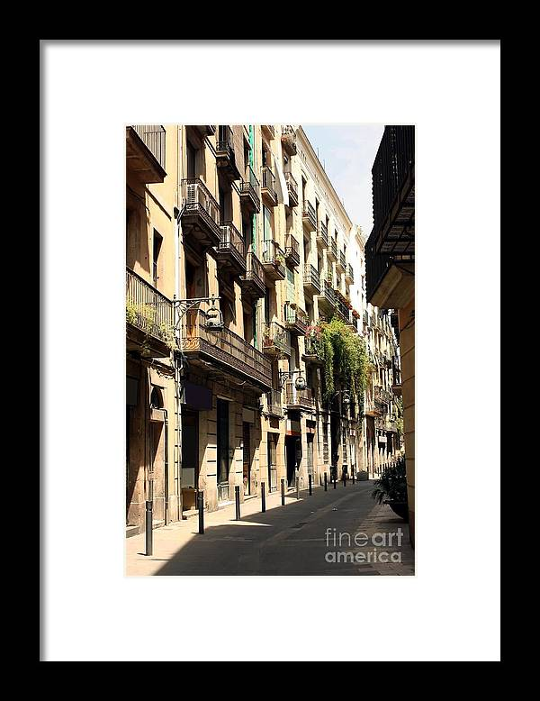 Barcelona Framed Print featuring the photograph The Neighborhood by Sophie Vigneault