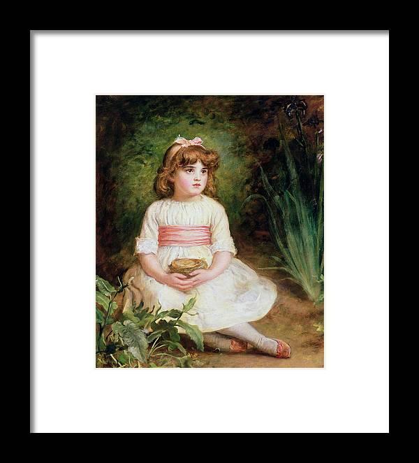 Victorian Framed Print featuring the photograph The Nest Oil On Canvas by Sir John Everett Millais