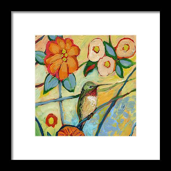 Hummingbird Framed Print featuring the painting The NeverEnding Story No 6 by Jennifer Lommers