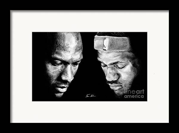 Lebron James Framed Print featuring the drawing The Next One by Tamir Barkan