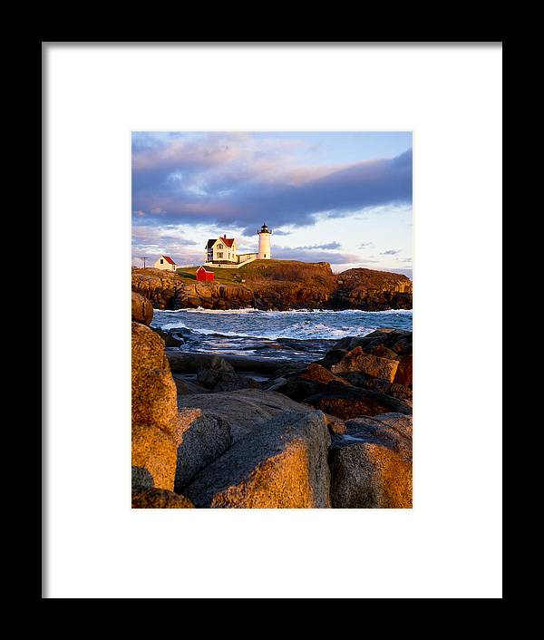 Lighthouse Framed Print featuring the photograph The Nubble Lighthouse by Steven Ralser