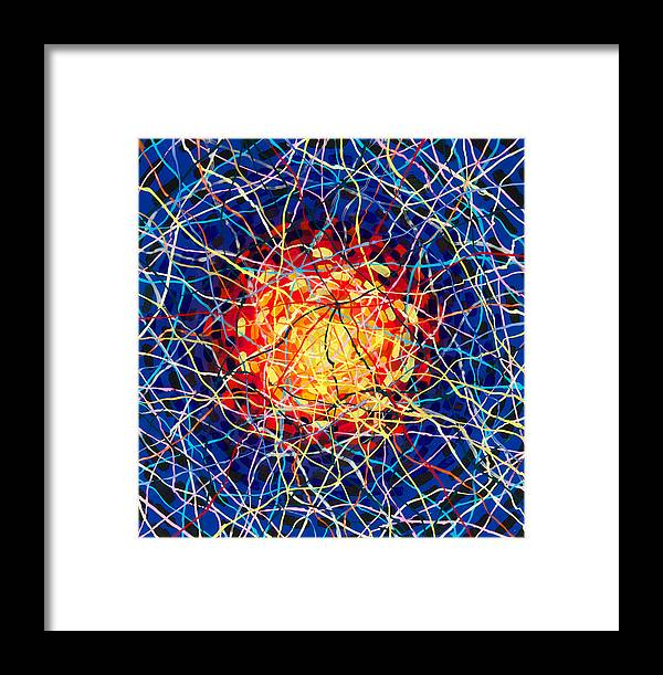 Reverse Acrylic Framed Print featuring the painting The Nucleus by Patrick OLeary