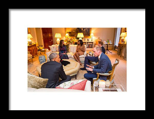 Apartment Framed Print featuring the photograph The Obamas Dine At Kensington Palace by WPA Pool