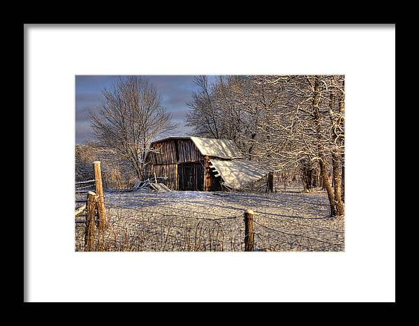 Barn Framed Print featuring the photograph The Old Barn by Mark Six
