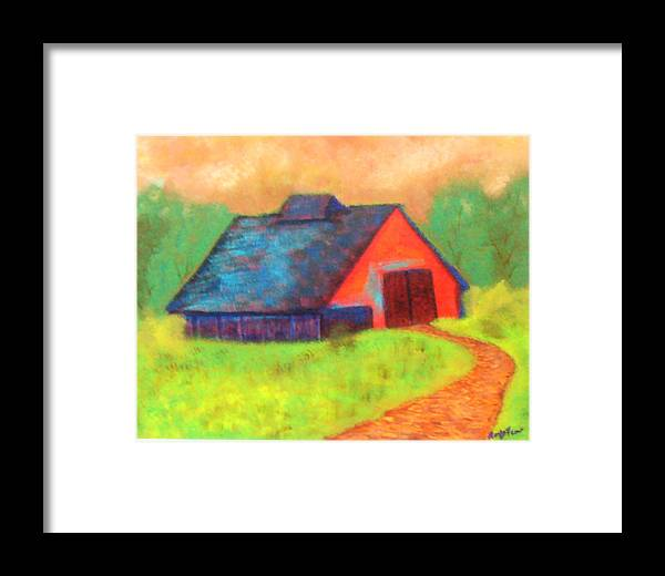 Framed Print featuring the painting The Old Barn by Roxy Furos