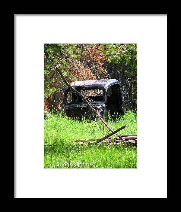 Old Car Framed Print featuring the photograph The Old Car by Susan Chesnut