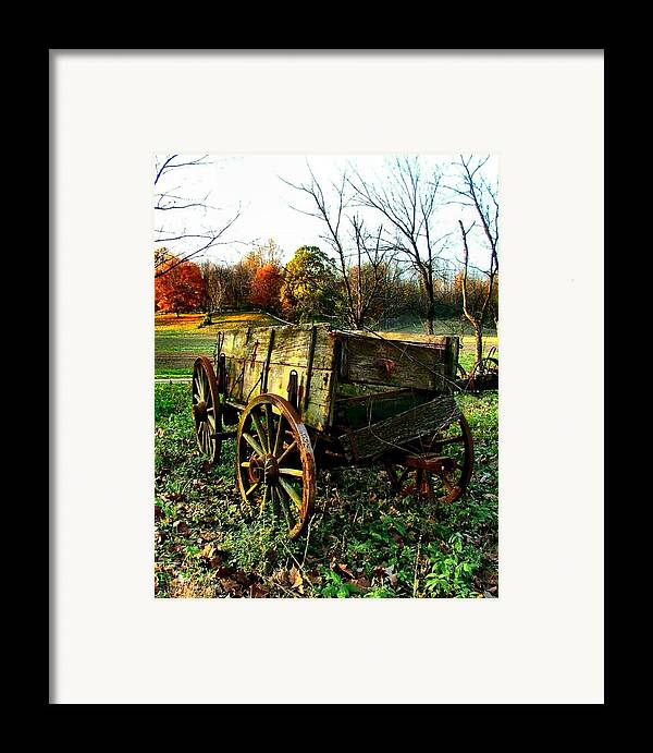 Conestoga Framed Print featuring the photograph The Old Conestoga by Julie Dant