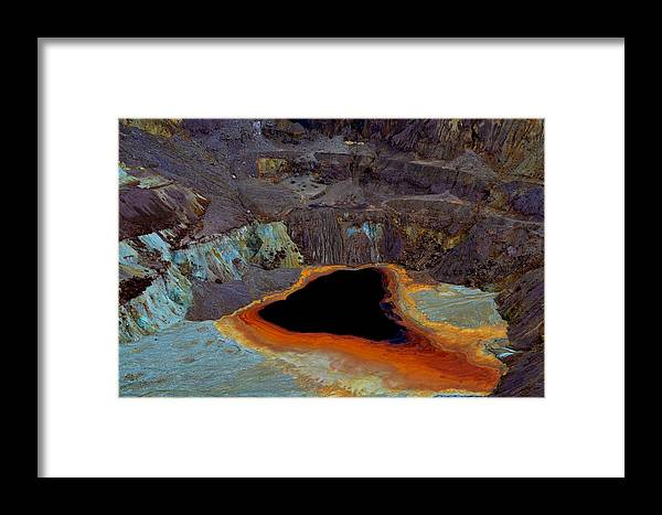 Copper Framed Print featuring the photograph The Old Copper Mine by Jeffrey Hamilton