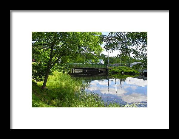River Framed Print featuring the photograph The Old Float Is Gone by Georgia Hamlin