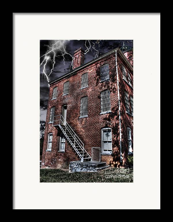 Abandoned Framed Print featuring the photograph The Old Jail by Dan Stone