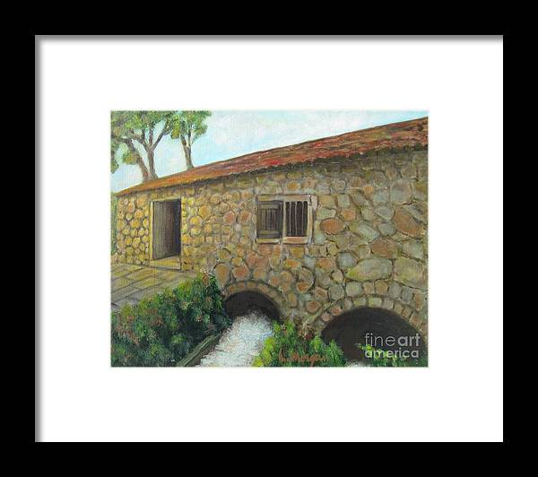 Mill Framed Print featuring the painting The Old Mill In Dubrovnik by Laurie Morgan