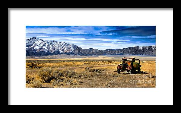 Old Truck Framed Print featuring the photograph The Old One by Robert Bales