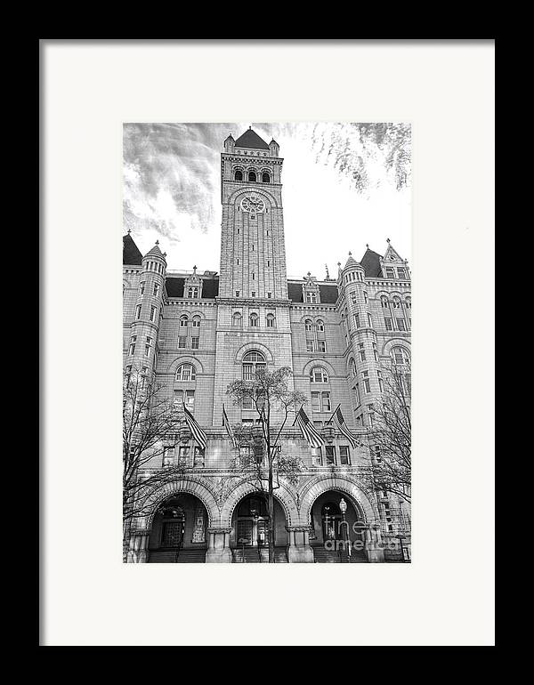 Washington Framed Print featuring the photograph The Old Post Office by Olivier Le Queinec