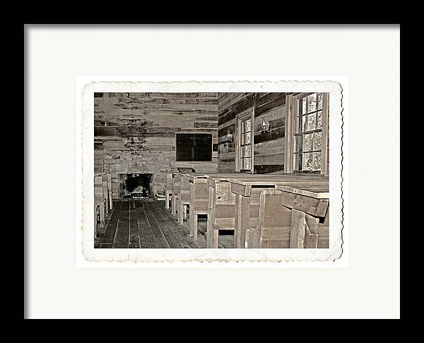 1800 Framed Print featuring the photograph The Old Schoolhouse by Susan Leggett