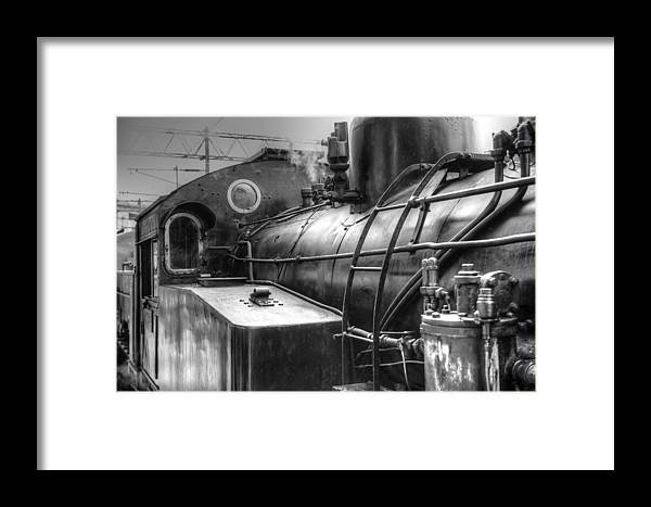 The Old Steam Train Framed Print featuring the photograph The Old Steam Train by Dewa Wirabuwana