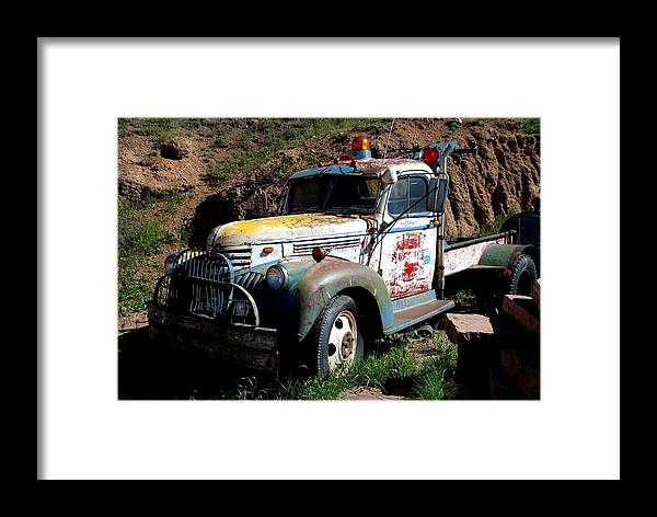 Truck Framed Print featuring the photograph The Old Truck by Dany Lison