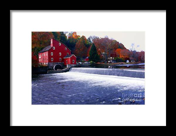 Water Framed Print featuring the photograph The Old Water Mill by Linda Parker