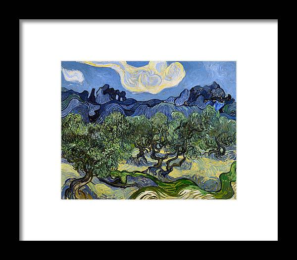 Vincent Van Gogh Framed Print featuring the digital art The Olive Tree by Vincent Van Gogh