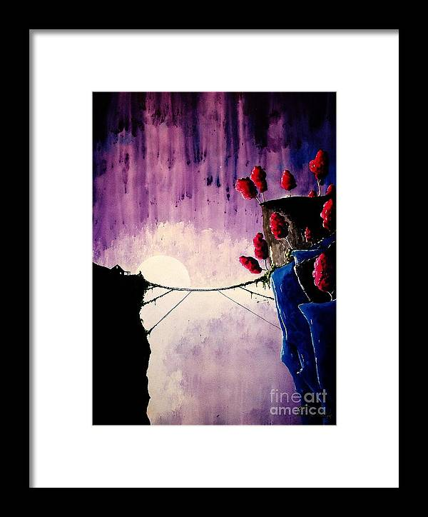 Contemporary Framed Print featuring the painting The Orchard by Kyle Brock