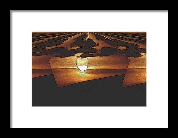 Sun Framed Print featuring the photograph The Other World by Jeff Swan