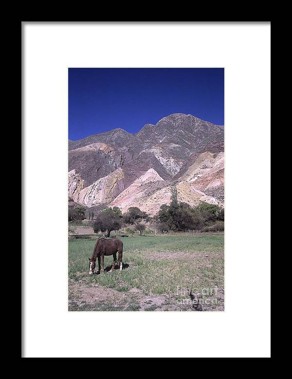Argentina Framed Print featuring the photograph The Painters Palette Jujuy Argentina by James Brunker