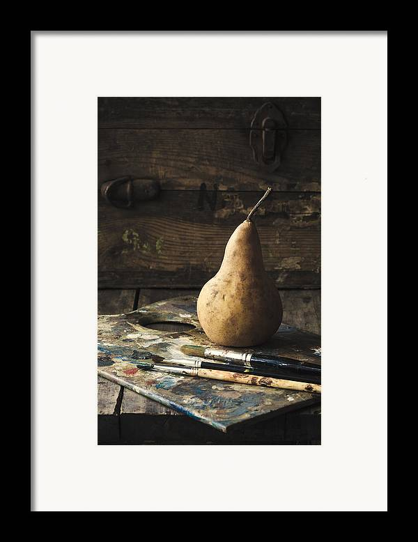 Pear Framed Print featuring the photograph The Painter's Pear by Amy Weiss