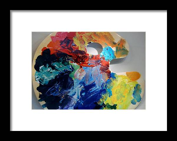 Abstract Framed Print featuring the photograph The Palet by Rob Hans