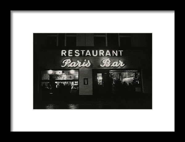 Paris Bar Framed Print featuring the photograph The Paris Bar by Dominique Nabokov