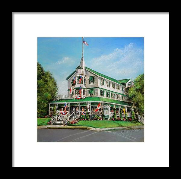 Parker House Framed Print featuring the painting The Parker House by Melinda Saminski
