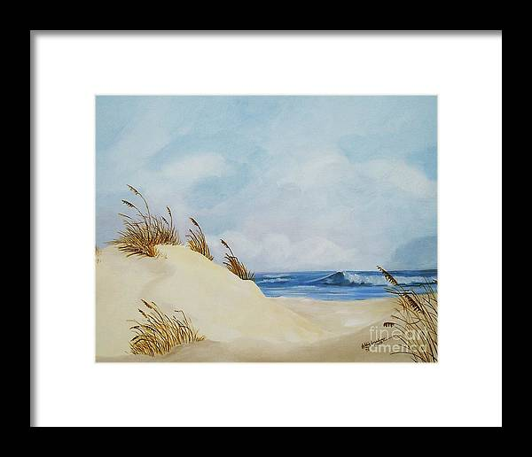 Beach Framed Print featuring the painting The Path To The Beach by Debbie Broadway
