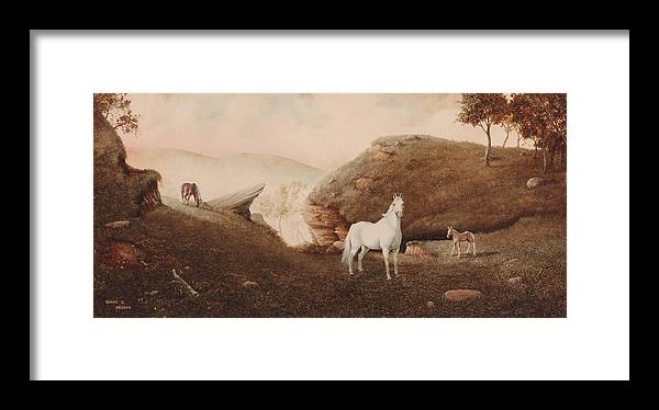 Horse Framed Print featuring the painting The Patriarch by Duane R Probus
