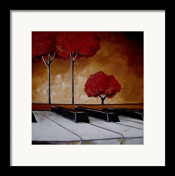 Piano Framed Print featuring the painting The Piano Man's Dream by Vickie Warner