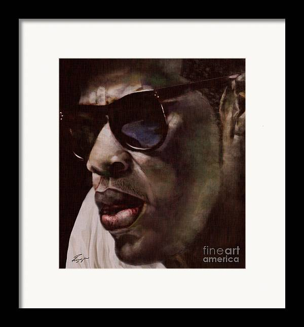 Jay Z Framed Print featuring the painting The Pied Piper Of Intrigue - Jay Z by Reggie Duffie