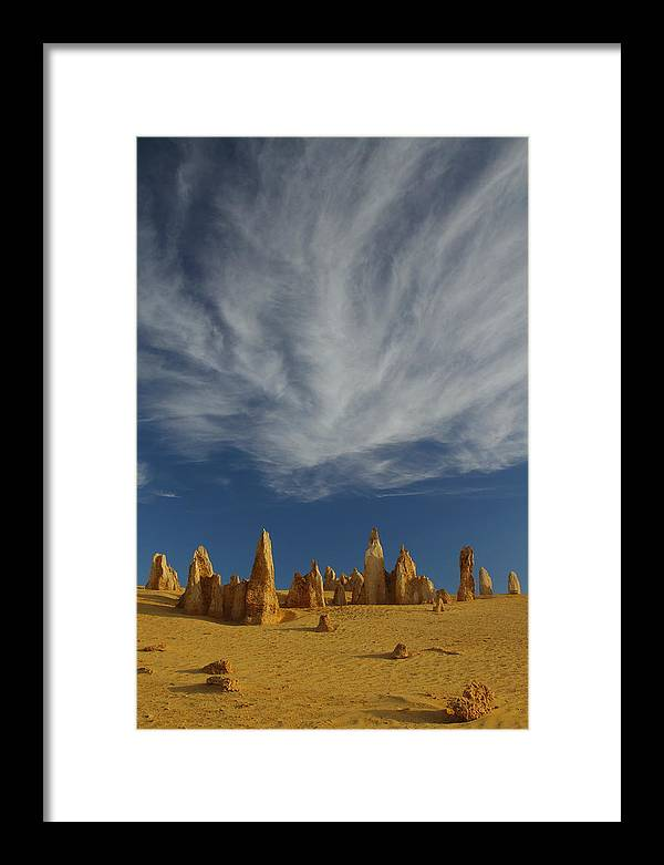 The Pinnacles Framed Print featuring the photograph The Pinnacles 2am-111015 by Andrew McInnes