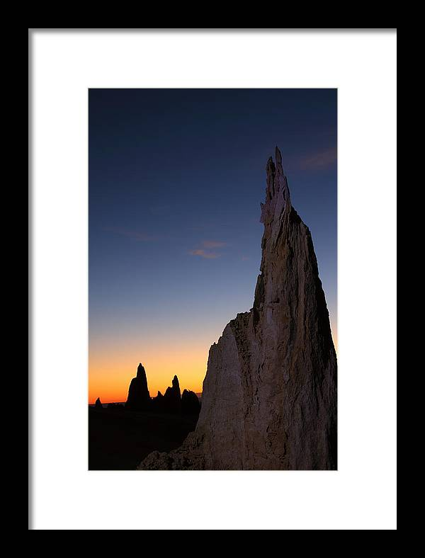 The Pinnacles Framed Print featuring the photograph The Pinnacles 2am-111069 by Andrew McInnes