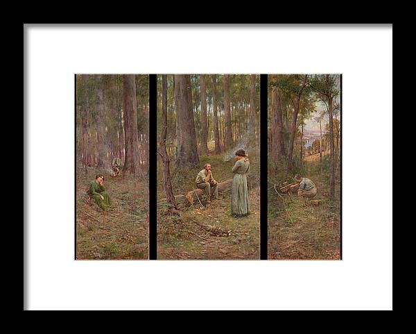 Frederick Mccubbin Framed Print featuring the painting The pioneer by Frederick McCubbin