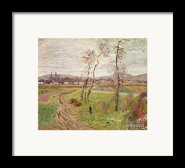 The Plain At Gennevilliers Framed Print featuring the painting The Plain At Gennevilliers by Claude Monet