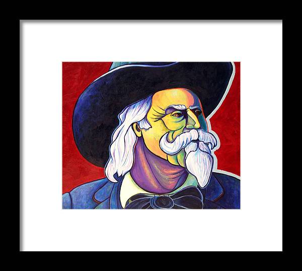 Western Hero Framed Print featuring the painting The Plainsmen - Buffalo Bill Cody by Joe Triano