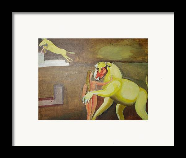 Horse Framed Print featuring the painting The Play by Prasenjit Dhar