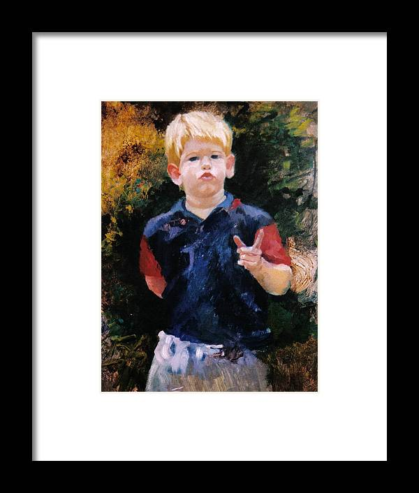 Portrait Framed Print featuring the painting The Politician by John L Campbell