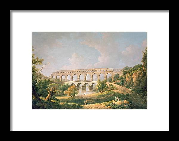 Landscape Framed Print featuring the photograph The Pont Du Gard, Nimes by William Marlow