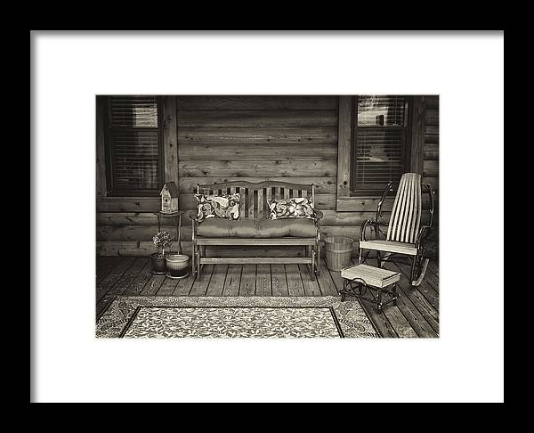 Porch Framed Print featuring the photograph The Porch by Patrick M Lynch