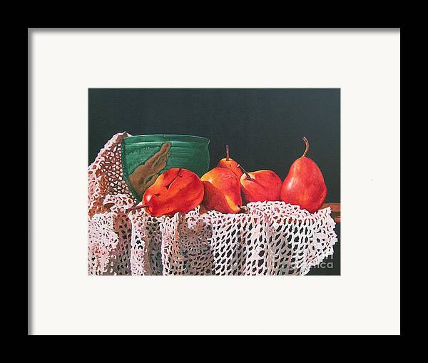Cascading Framed Print featuring the painting The Potters Bowl by Sarah Luginbill