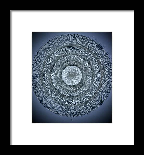 Pi Framed Print featuring the drawing The Power Of Pi by Jason Padgett